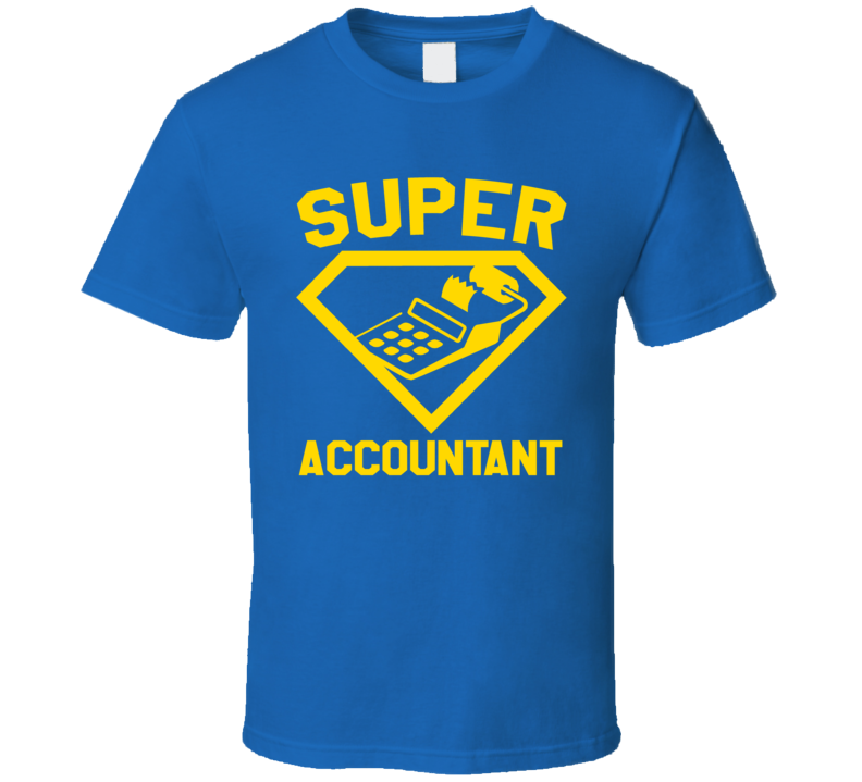 Super Accountant Job Occupation Logo Superhero Co-worker Gift T Shirt