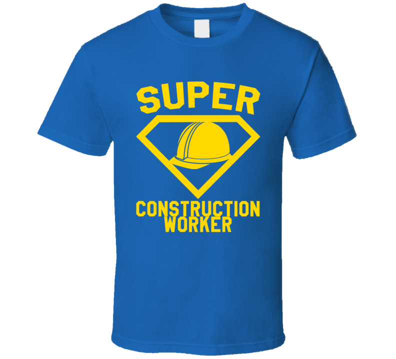 Super Construction Worker Job Occupation Logo Superhero Co-worker Gift T Shirt