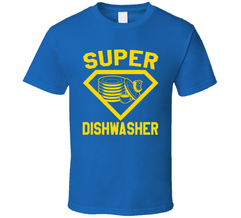 Super Dishwasher Restaurant Kitchen Job Occupation Logo Superhero Co-worker Gift T Shirt