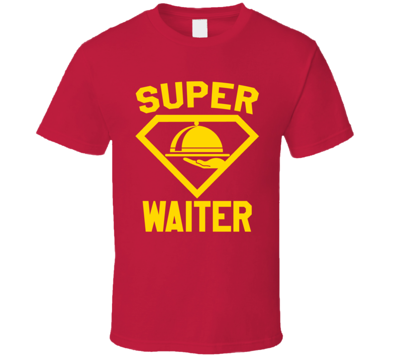 Super Waiter Job Occupation Logo Superhero Co-worker Gift T Shirt