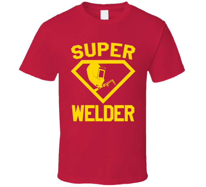 Super Welder Job Occupation Logo Superhero Co-worker Gift T Shirt