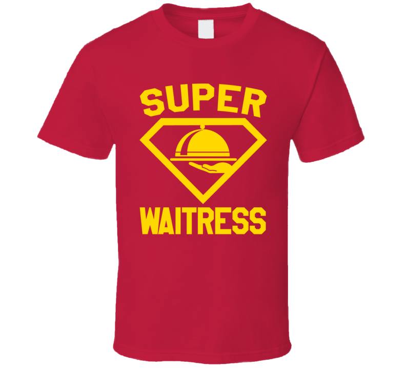 Super Waitress Job Occupation Logo Superhero Co-worker Gift T Shirt