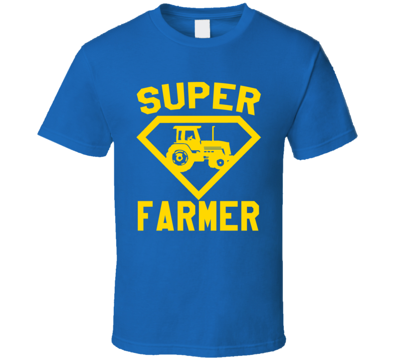 Super Farmer Job Occupation Logo Superhero Co-worker Gift T Shirt