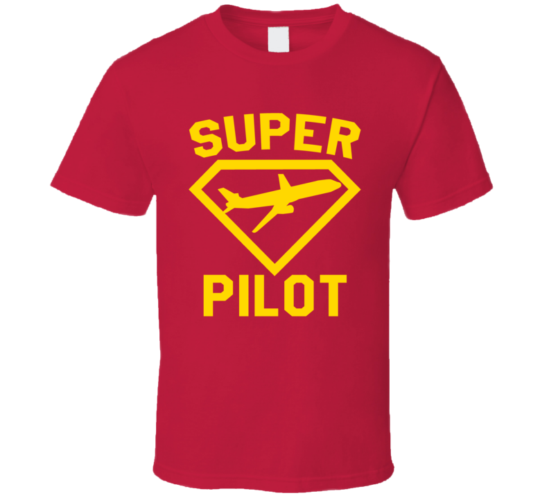 Super Pilot Job Occupation Logo Superhero Co-worker Gift T Shirt