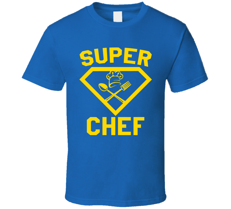 Super Chef Job Occupation Logo Superhero Co-worker Gift T Shirt