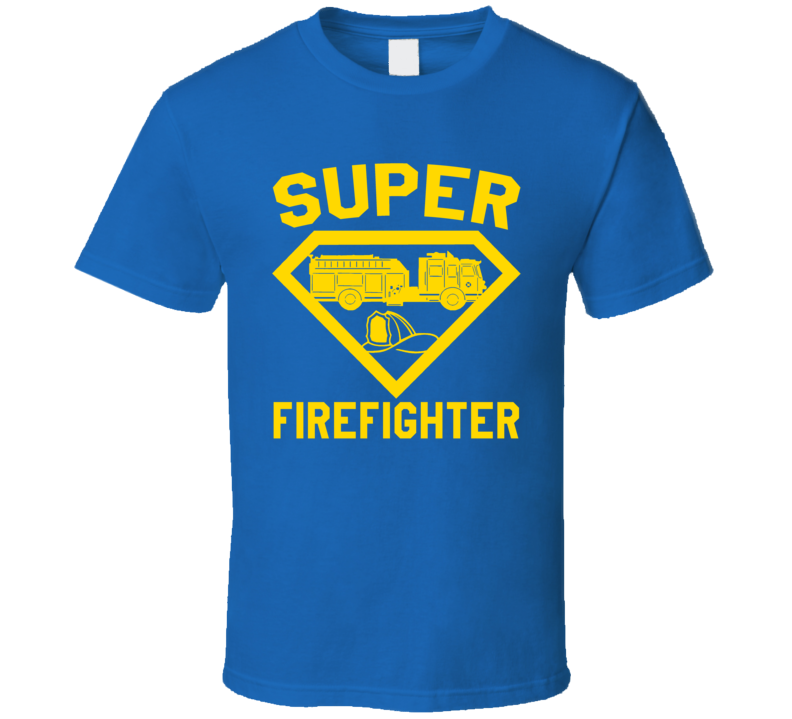 Super Firefighter Job Occupation Logo Superhero Co-worker Gift T Shirt