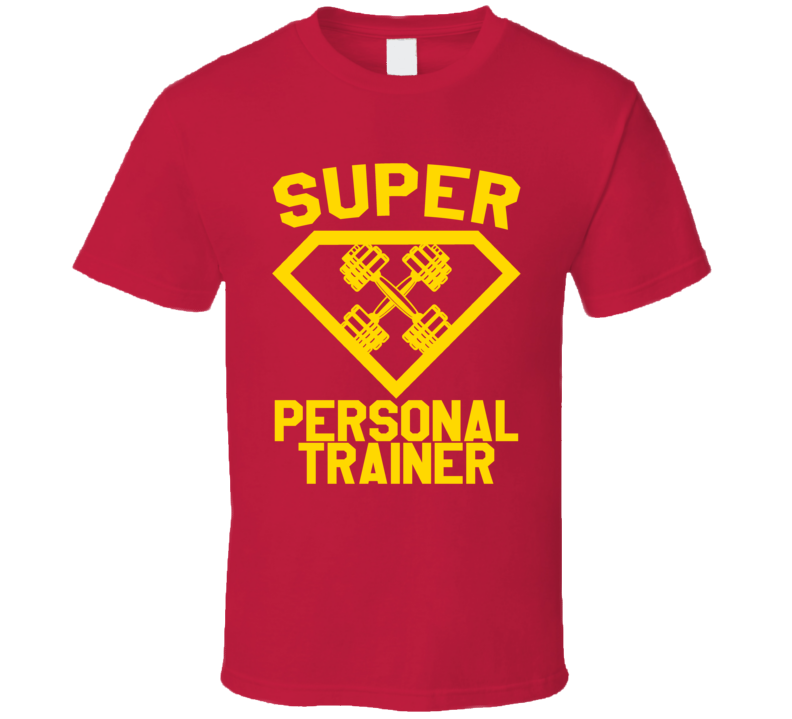 Super Personal Trainer Job Occupation Logo Superhero Co-worker Gift T Shirt