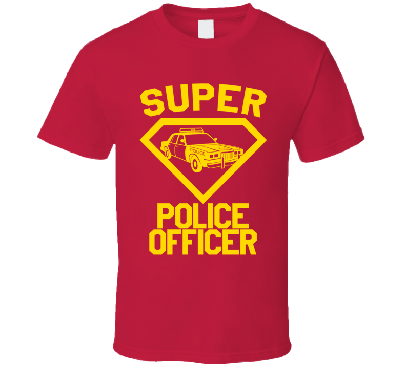 Super Police Officer Job Occupation Logo Superhero Co-worker Gift T Shirt