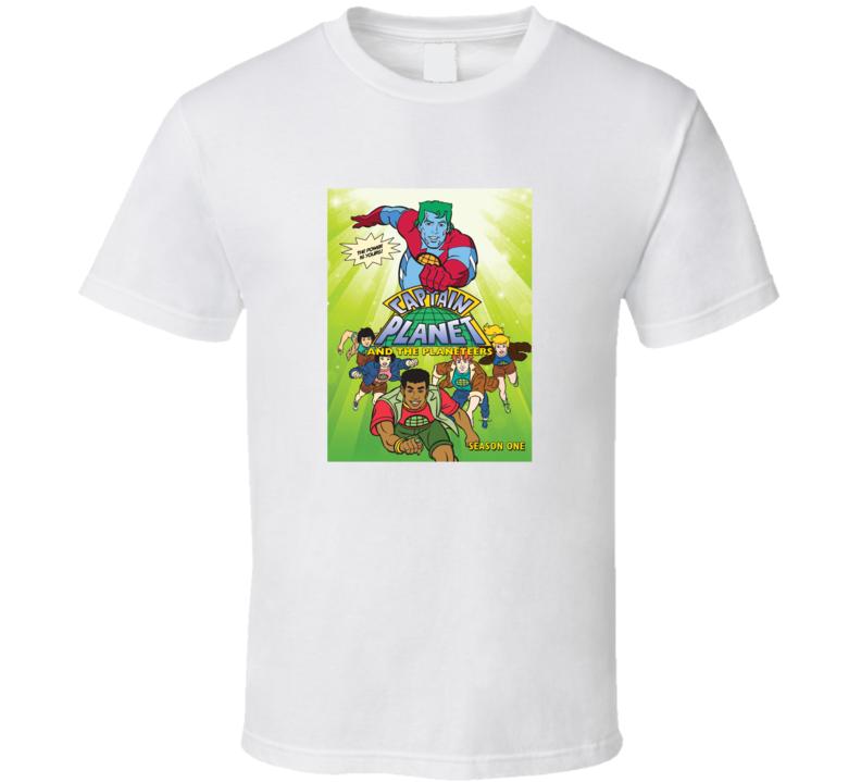 Captain Planet & The Planeteers Classic Cartoon Fan T Shirt