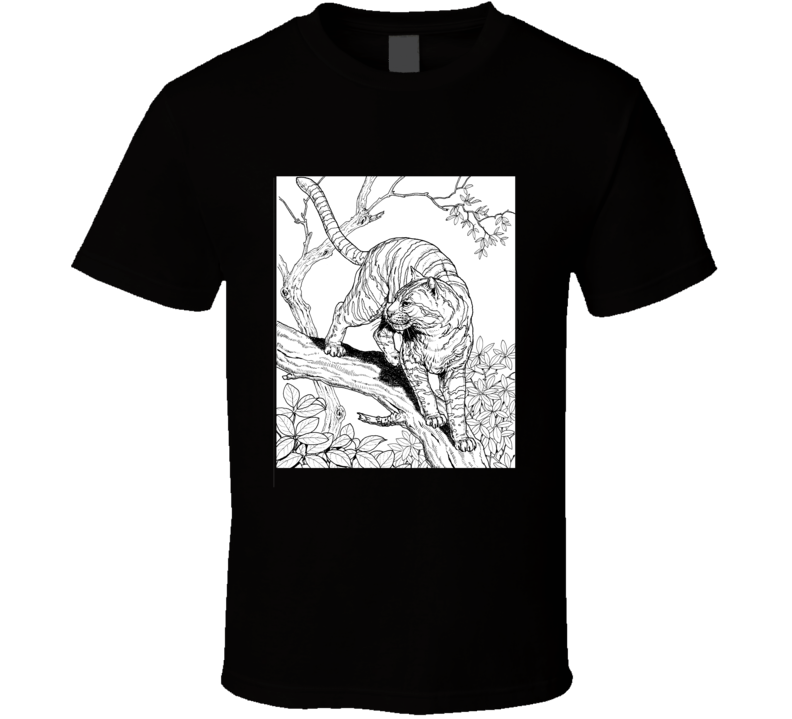 Color Me In Amazing Jungle Cat T Shirt