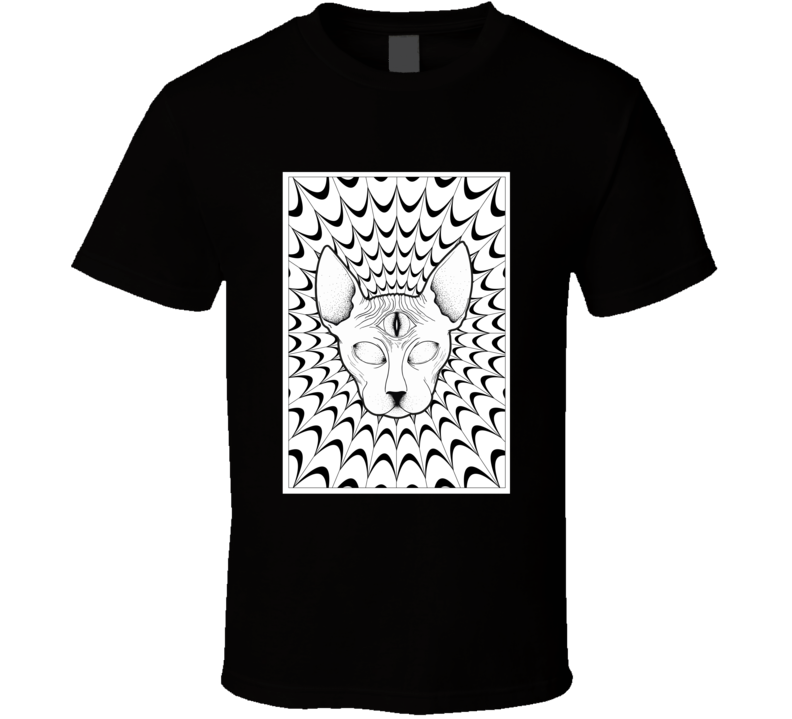 Color Me In Cat T Shirt
