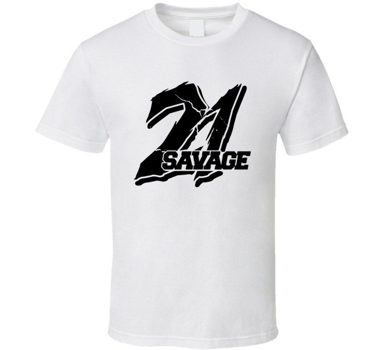 21 Savage Logo Trap Drill Rap Hip Hop Music Fan T Shirt