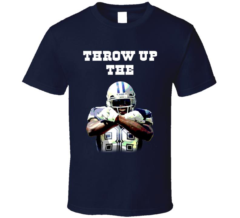 Throw Up The X Dez Bryant Dallas Football Sports Team Fan T Shirt