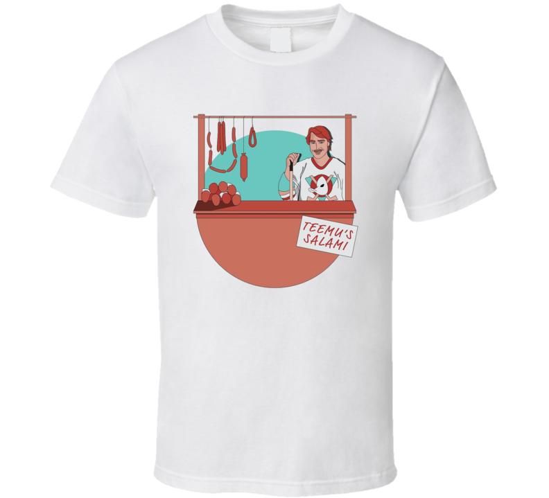 Teemu's Salami Funny Teemu Selanne Anaheim Hockey Sports Team Fan T Shirt