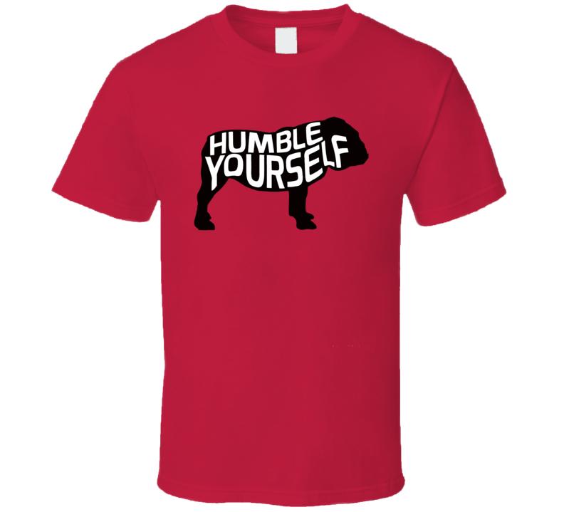 Georgia Bulldogs Oklahoma Sooners Baker Mayfield Rose Bowl Humble Yourself T Shirt