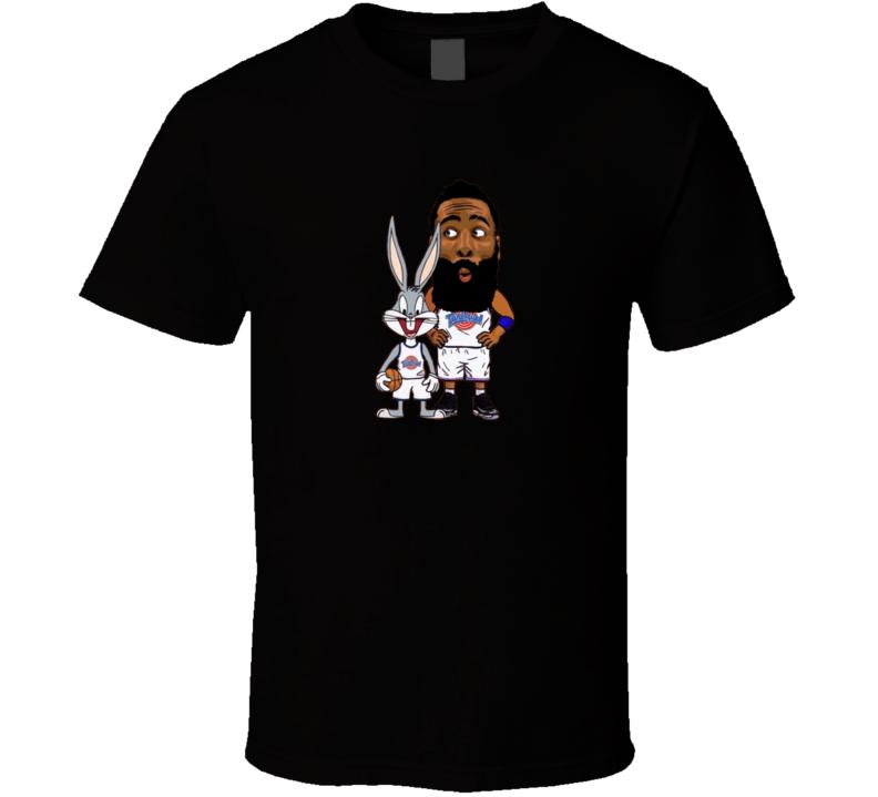 Tune Squad James Harden Bugs Bunny Space Jam Basketball Movie Cartoon T Shirt