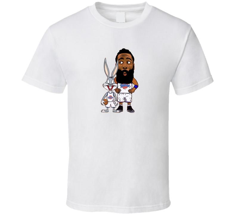 Tune Squad James Harden Bugs Bunny Space Jam Basketball Funny Cartoon T Shirt