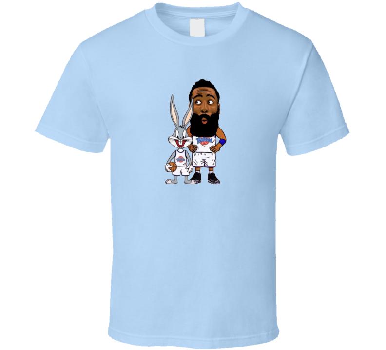 Tune Squad James Harden Bugs Bunny Space Jam Basketball Cool  Cartoon T Shirt