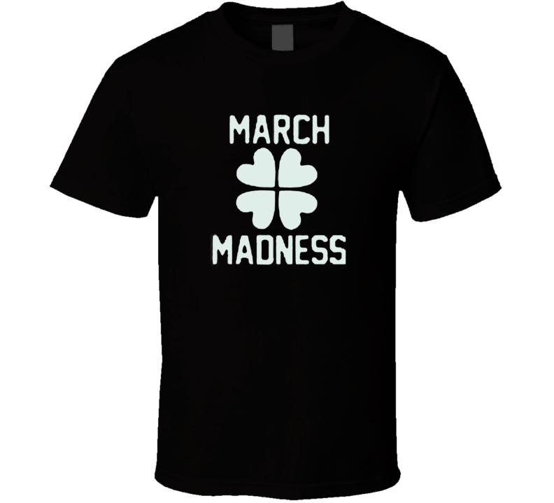 March Madness Irish Shamrock St Patricks Day Basketball Cool T Shirt