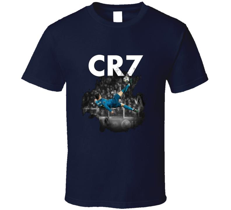 Cristiano Ronaldo Cr7 Golden Goal Real Madrid Spanish Portugese Amazing Soccer Sports Fan T Shirt