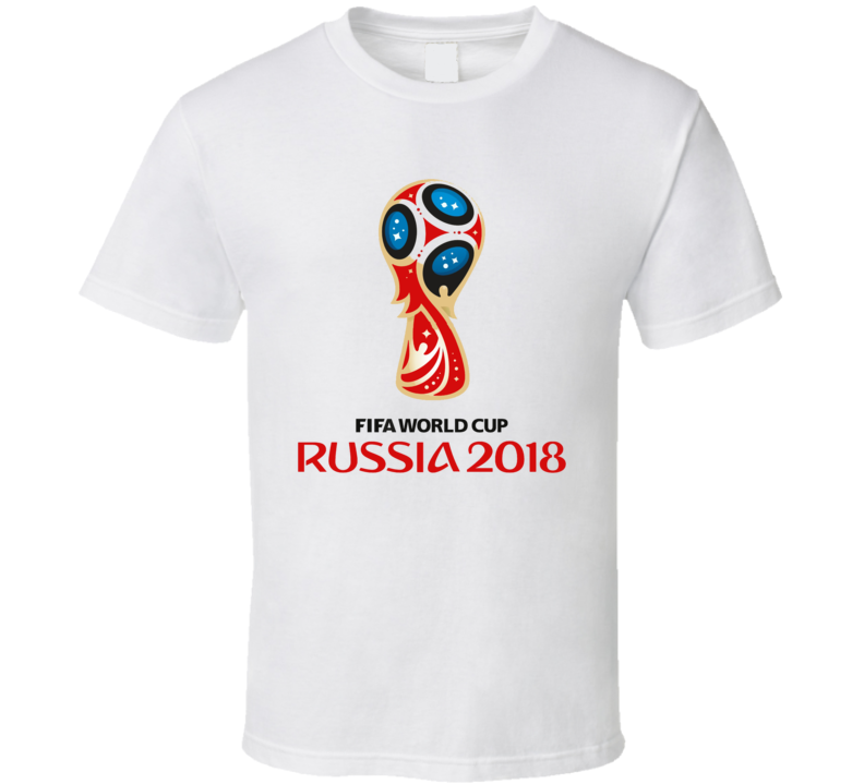 Fifa World  Cup 2018 Russia Trophy Soccer Sports Team Fan Logo Football Europe Spain Brasil England Chile Argentina Belgium Portugal South America Toronto Canada Cool T Shirt