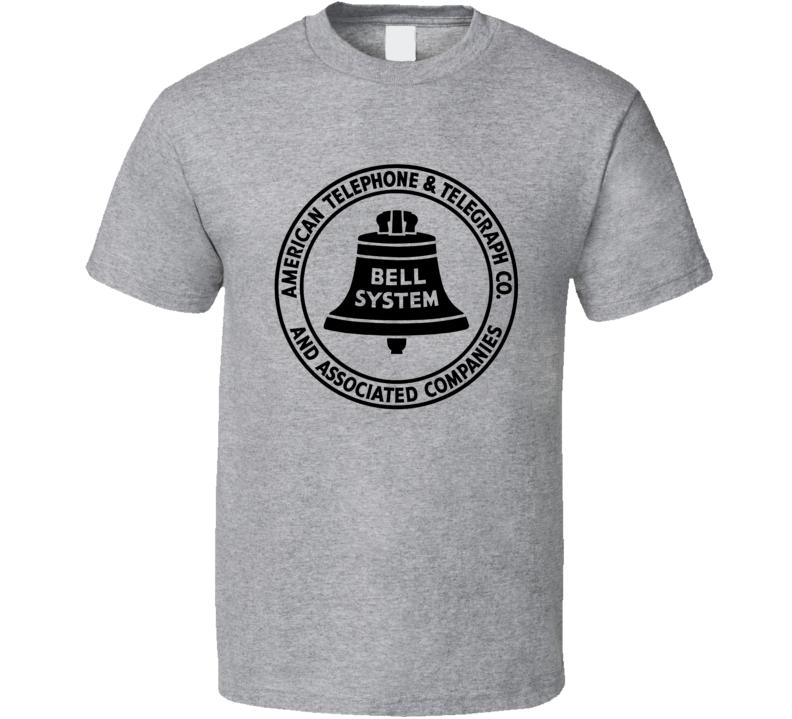 American Telephone Telegraph Co Bell System Phone Logo  T Shirt