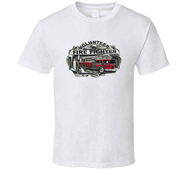 Volunteer Fire Fighter Sketch T Shirt