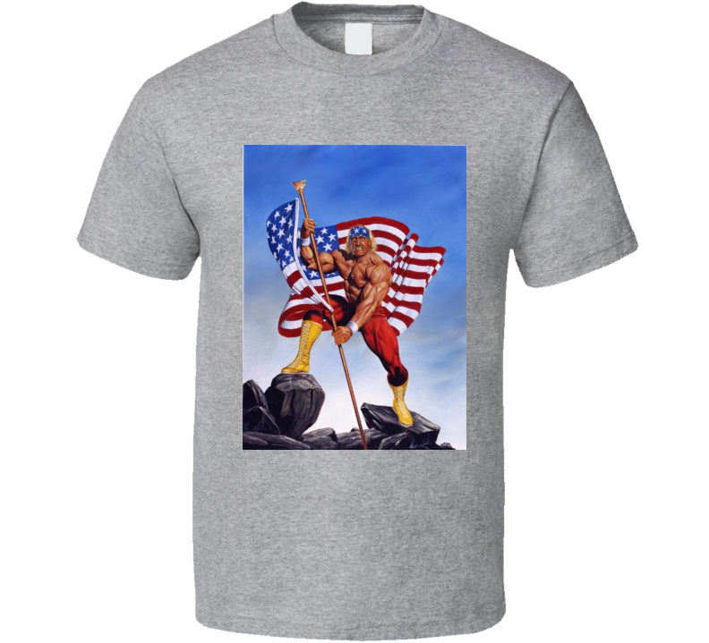 Hulk Hogan With U. S. A. Flag T Shirt