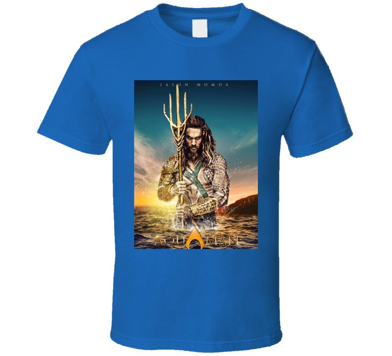 Aquaman With Jason Momoa Movie Poster T Shirt