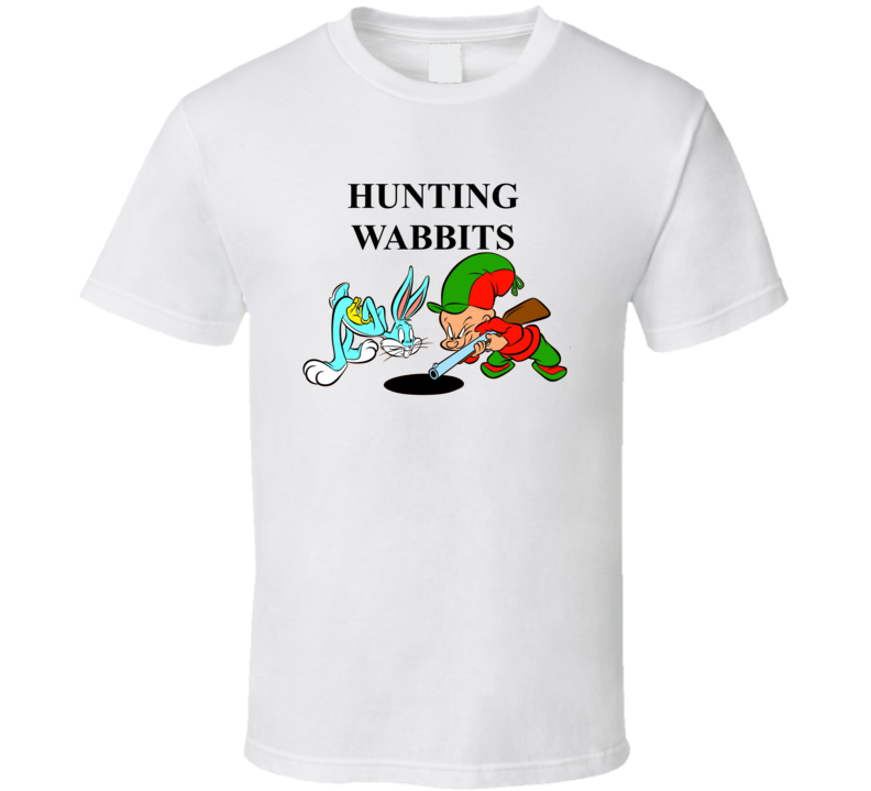 Bugs Bunny And Elmer Fudd Hunting Wabbits T Shirt