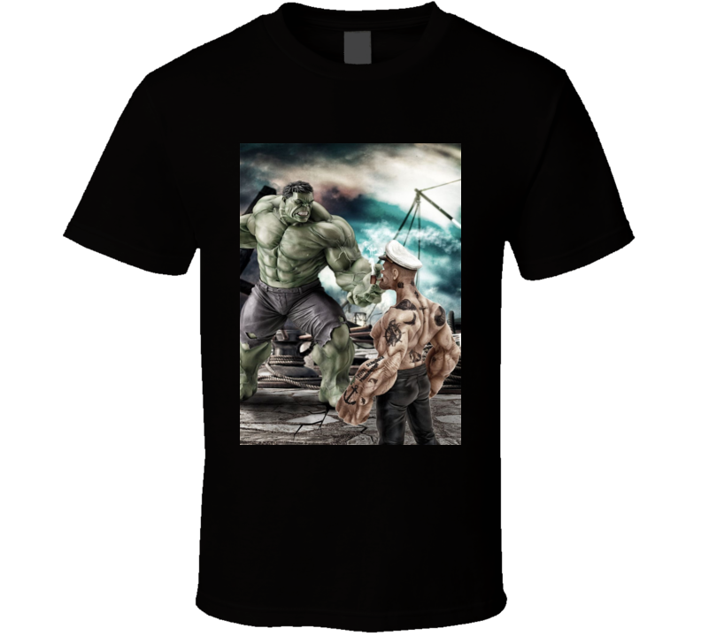 Hulk Meets Popeye Poster T Shirt