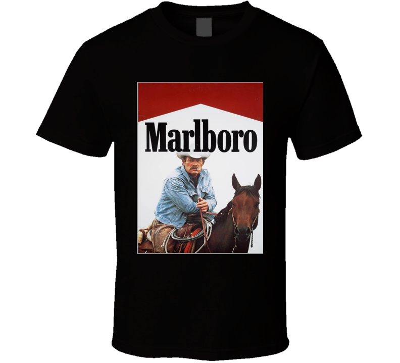 Marlboro Man On His Horse Poster T Shirt
