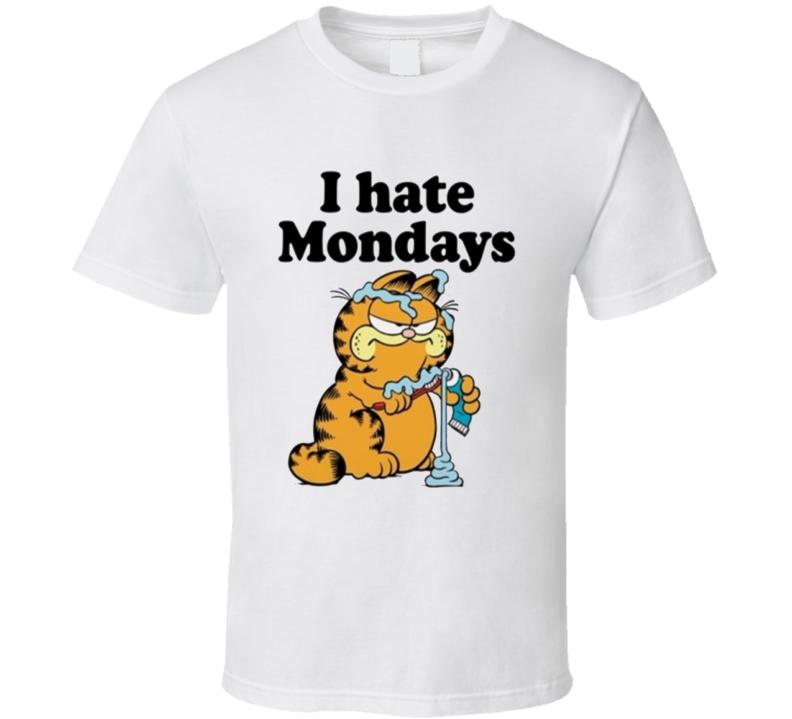 Garfield I Hate Mondays Cartoon T Shirt