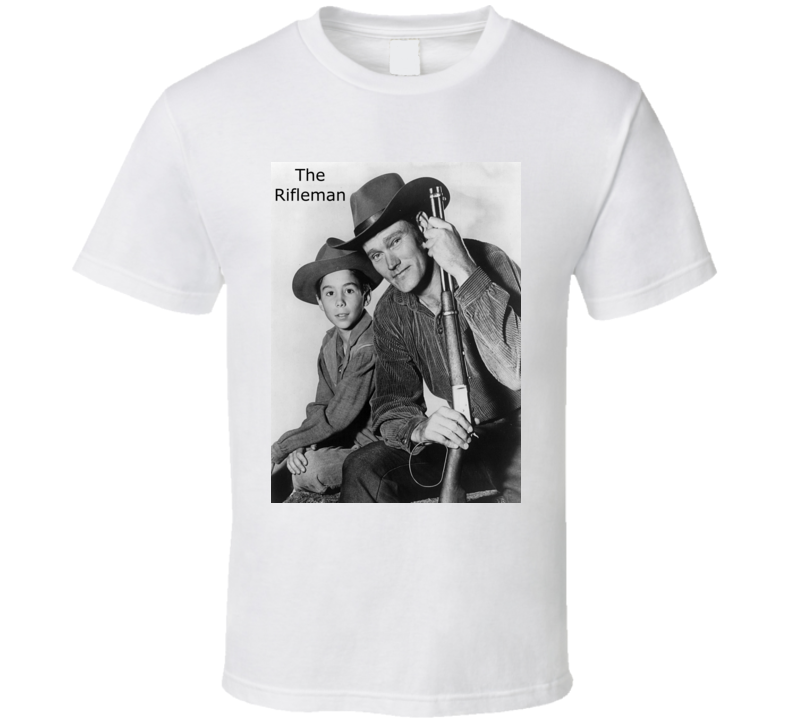 The Rifleman Tv Show Poster With Chuck Connors T Shirt