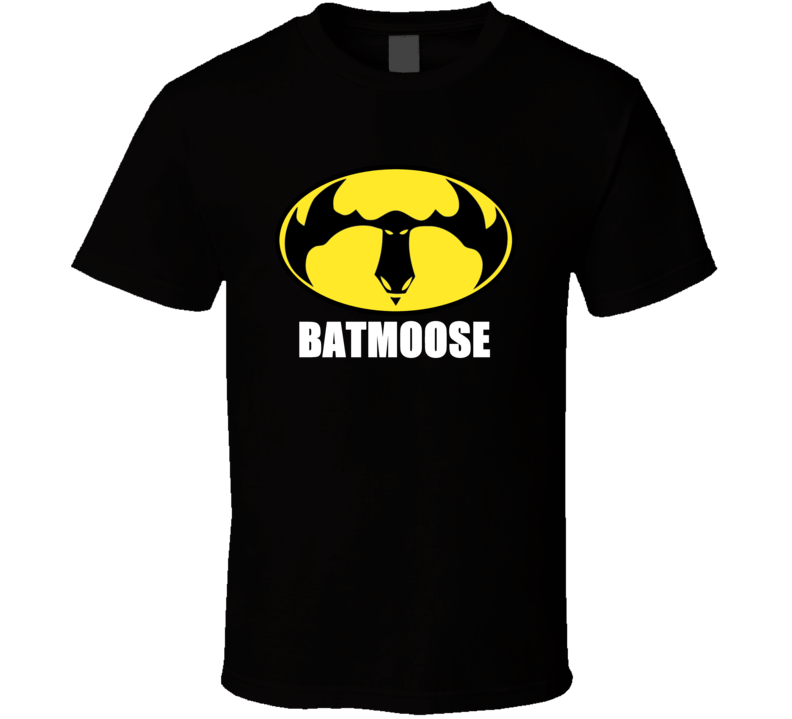 Bat Moose Symbol Logo On Black T Shirt