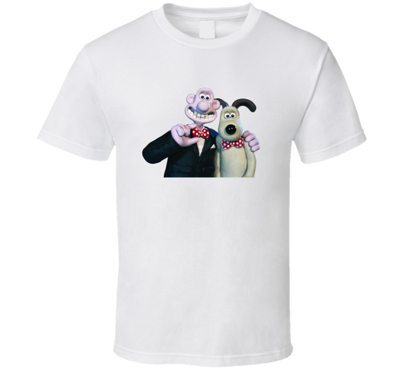 Wallace And Gromit Animated Characters T Shirt