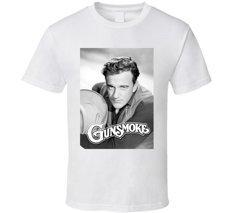 James Arness Matt Dillon On Gunsmoke Tv Series T Shirt