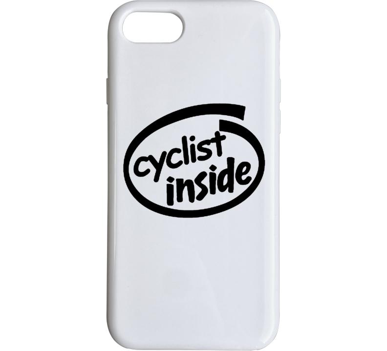 Cyclist Inside Funny Parody Logo Phone Case