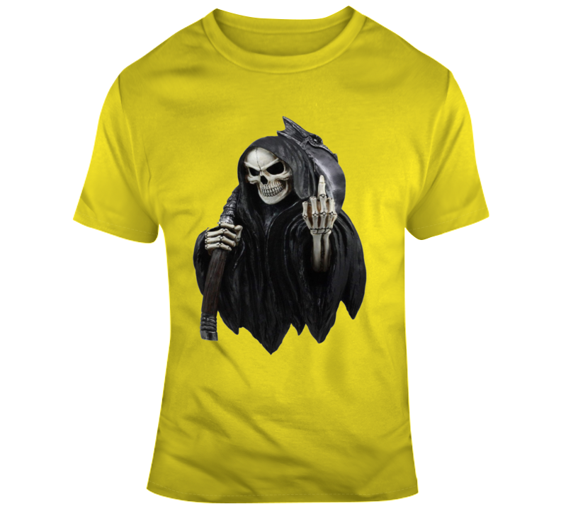 Grim Reaper With Middle Finger T Shirt
