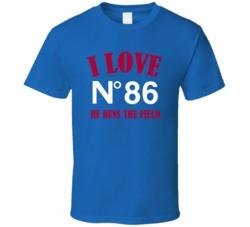 Marquis Bundy # 86 I Love When He Runs The Field New York G Football Sports Athlete T Shirt