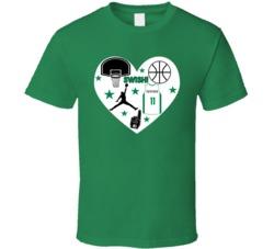 Kyrie Irving Boston Basketball Icon Heart Mashup T Shirt