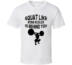 Squat Like Ryan Kesler Is Behind You Anaheim Hockey Fan T Shirt