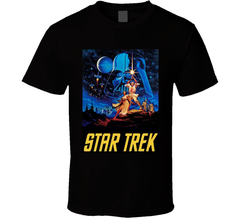 Star Wars Star Trek Mashup Parody Funny Joke Nerd T Shirt