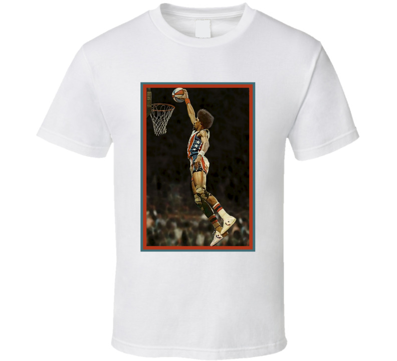 Julius Winfield Erving II Dr. J Basketball Dunk USA Fan T Shirt
