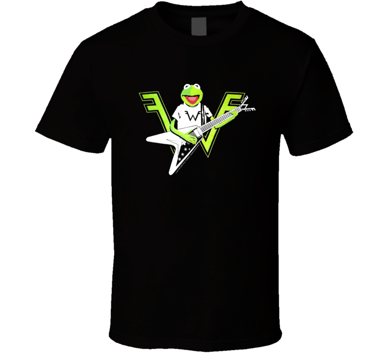 Kermit The Frog Playing The Guitar Weezer Logo T Shirt