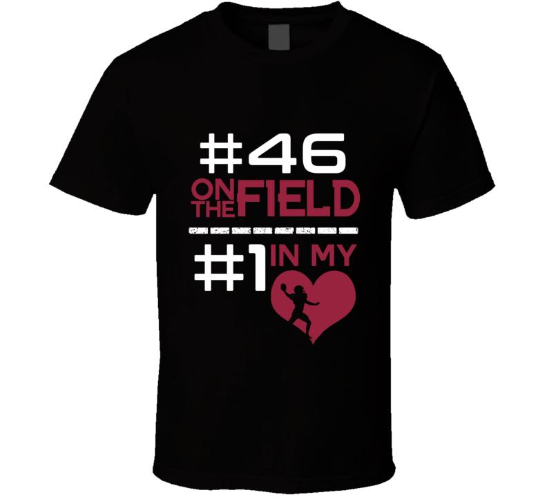 Number One In My Heart Aaron Brewer Arizona Football Team Fan T Shirt