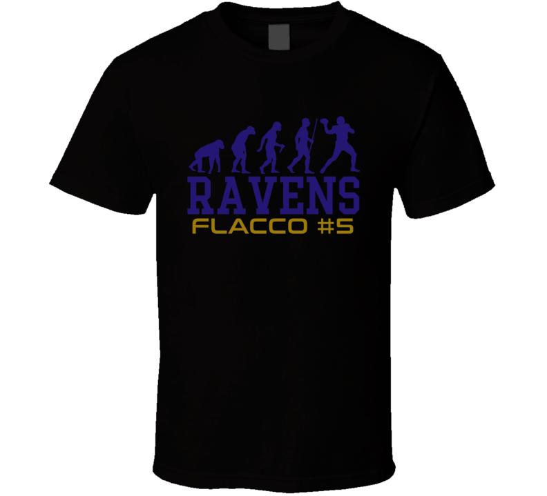 Evolution Joe Flacco Baltimore Football Team Fan T Shirt