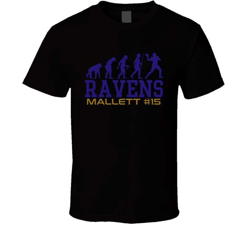 Evolution Ryan Mallett Baltimore Football Team Fan T Shirt