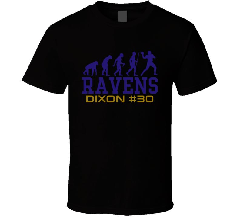 Evolution Kenneth Dixon Baltimore Football Team Fan T Shirt