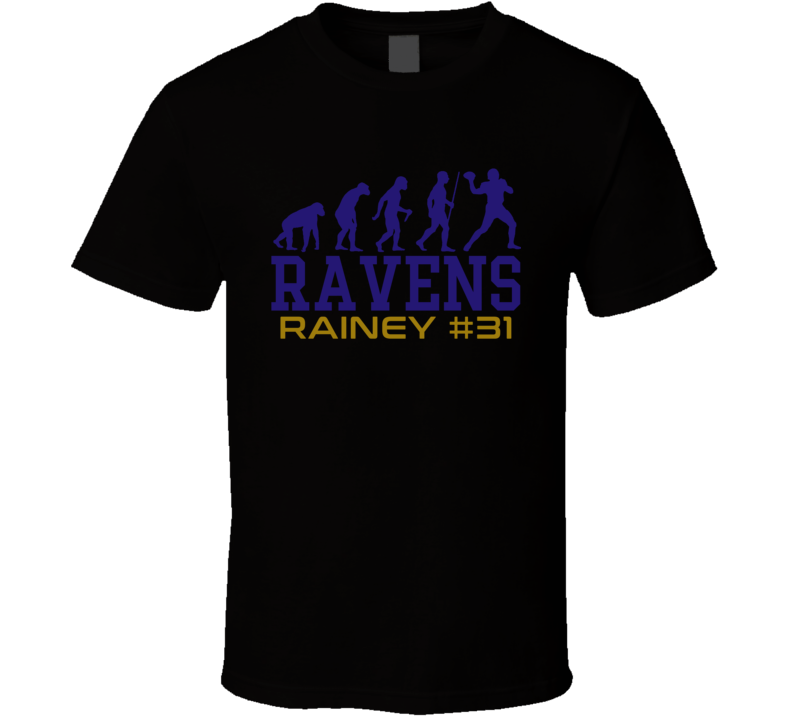 Evolution Bobby Rainey Baltimore Football Team Fan T Shirt